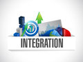 Integration business concept pocket illustration design over a white background Royalty Free Stock Photos