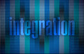Integration text illustration over a binary background Royalty Free Stock Photography