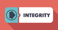 Integrity concept in flat design with long shadows Royalty Free Stock Photos