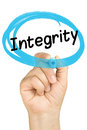Integrity Hand Circle Highlighter Blue Isolated Royalty Free Stock Photo