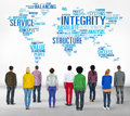 Integrity honesty sincerity trust reliability concept Stock Photos
