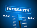 Integrity max shows upper limit and honorable meaning virtue Stock Photography
