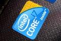 Intel core i7 logo Royalty Free Stock Photo