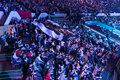 Intel extreme masters katowice poland audience at iem th th march in big banner visible Stock Photo