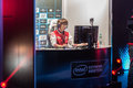 Intel extreme masters katowice poland dear playing starcraft match at iem th th march Stock Images