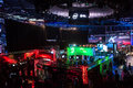 Intel extreme masters katowice poland exhibition stage at iem th th march in spodek arena Stock Photography