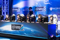 Intel extreme masters katowice poland invictus gaming playing the league of legends at iem th th march angled view Royalty Free Stock Photo