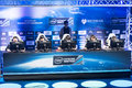 Intel extreme masters katowice poland invictus gaming playing the league of legends at iem th th march front view Royalty Free Stock Photos