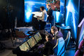Intel extreme masters katowice poland starcraft commentators place during sc match at iem th th march in Stock Photos