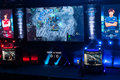 Intel extreme masters katowice poland starcraft competition stage at iem th th march dear vs hero match Royalty Free Stock Photography