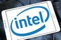 Intel logo Royalty Free Stock Photo