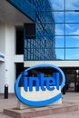 Intel sign at corporate headquarters santa clara ca usa march is a multinational corporation and inventor of the x Stock Photography