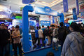 Intel stand in indo game show jakarta indonesia th september visitors crowding expo at jakarta convention center jakarta indonesia Stock Photos