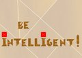 Intelligent logo word made from tangram pieces an old chinese game Stock Image