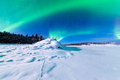 Intense display of Northern Lights Aurora borealis Royalty Free Stock Photos