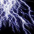 Intense lightning storm Stock Photography