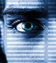 Intent gaze toned photo of with an eye closeup Stock Image