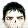 Intent look concept of teenager keeping an eyes contact Stock Photos