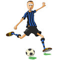 Inter milan soccer player illustration of who hits the ball Royalty Free Stock Images