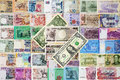 Inter national moneys background texture Royalty Free Stock Photography