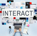 Interact Corporate Future Interacting Interactive Concept Royalty Free Stock Photo