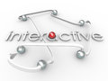 Interactive Word Connected Balls Social Communication Royalty Free Stock Photo