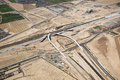Interchange construction of interstate at the freeway near goodyear arizona Royalty Free Stock Image