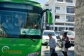 Intercity bus service on the island of cyprus between towns paphos larnaka in limassol Royalty Free Stock Photography
