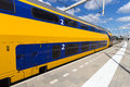 Intercity train at arnhem central station the netherlands Royalty Free Stock Photos