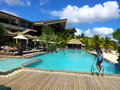 Intercontinental resort mauritius Stock Photos
