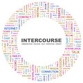 Intercourse concept illustration graphic tag collection wordcloud collage Royalty Free Stock Photos