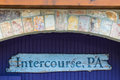 Intercourse PA Wood Sign Royalty Free Stock Photo