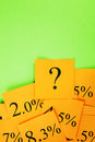 Interest Mortgage Rates and Question Orange Green Royalty Free Stock Photo
