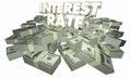 Interest Rate Borrow Money Earn Savings Royalty Free Stock Photo