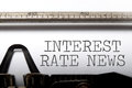 Interest rate news Royalty Free Stock Photo