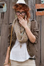 Interested hipster girl Royalty Free Stock Images