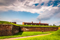 Interesting clouds over fort mchenry in baltimore maryland Stock Photo