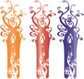 Interesting Ornate Tree Design Elements Illustrati Royalty Free Stock Photos