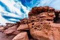 Interesting Red Sandstone Rock...