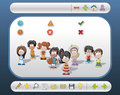 Interface with children and icons Stock Photography