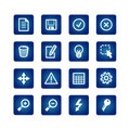 Interface icons set Stock Photos