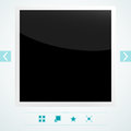 Interface used old photo frame eps vector illustration used transparency layer frame Royalty Free Stock Photography