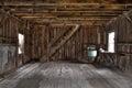 Interior of Abandoned Barn Royalty Free Stock Photo