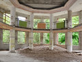Interior of an abandoned building Royalty Free Stock Image