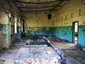 Interior of an abandoned soviet military base latvia Royalty Free Stock Photos