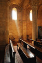 Interior of abbey Royalty Free Stock Photo