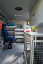 Interior ambulance for animals Royalty Free Stock Images