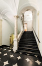 Interior ancient palace staircase of a classic historic building Stock Photo