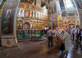 Interior of the assumption cathedral in iversky monastery valday russia august august valday russia was founded by Stock Photos