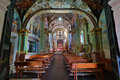 The interior of the atotonilco chapel in mexico Royalty Free Stock Photo